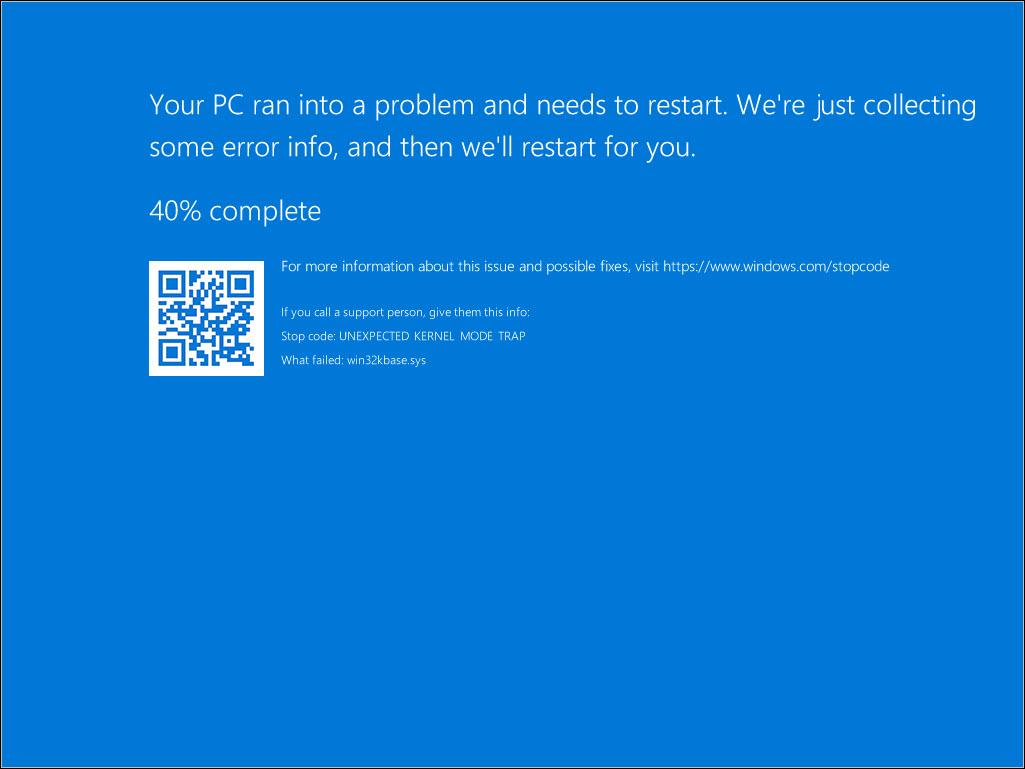 Windows Server Core OS Crash