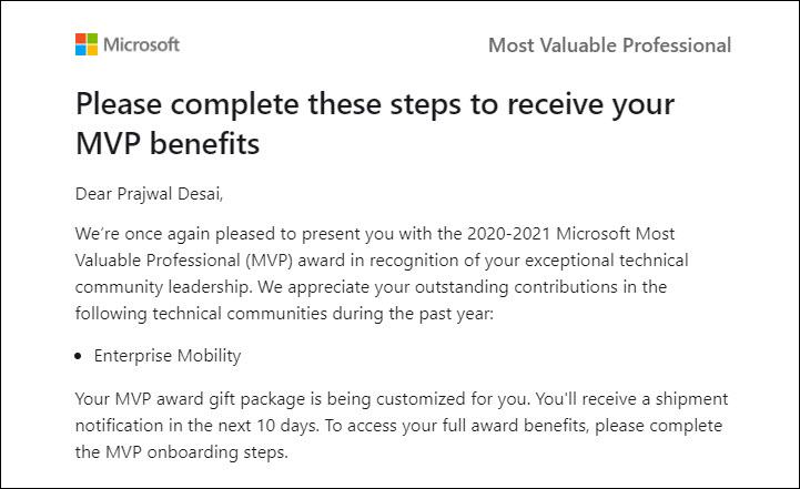 Prajwal Desai Microsoft MVP