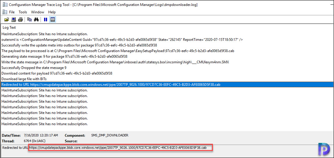 SCCM udpate download - dmpdownloader.log
