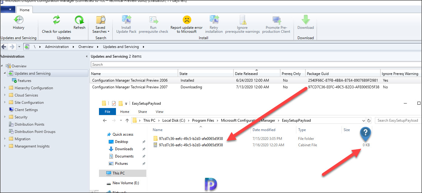ConfigMgr EasySetupPayload Folder