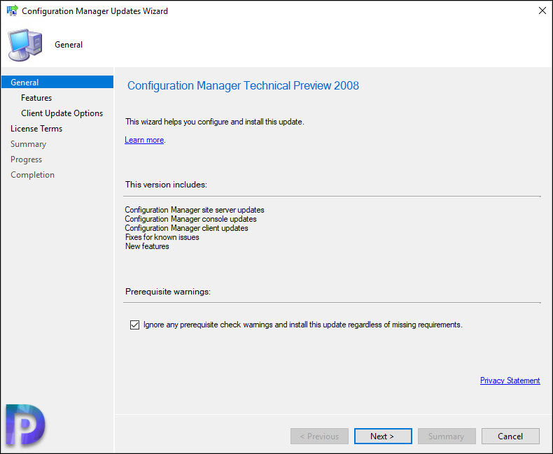 Install Configuration Manager Technical Preview 2008