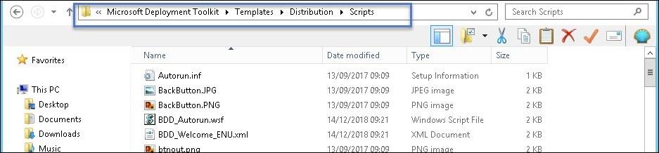 MDT Scripts Folder