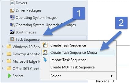 Create Task Sequence Media