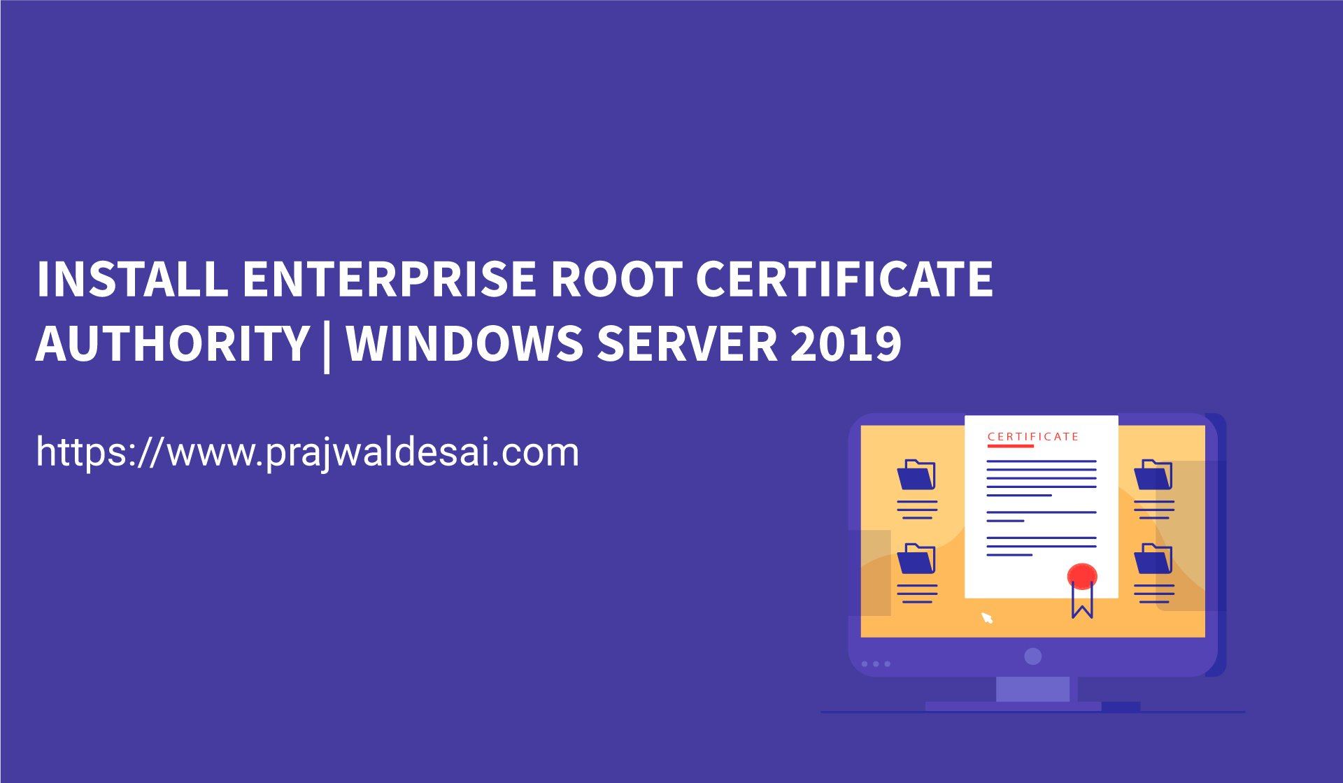 Install Enterprise Root Certificate Authority
