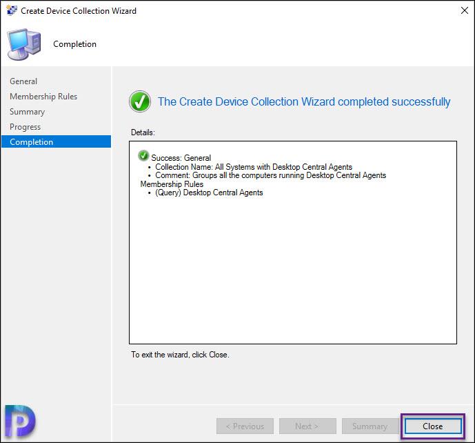SCCM Device Collection for Desktop Central Agents Snap7