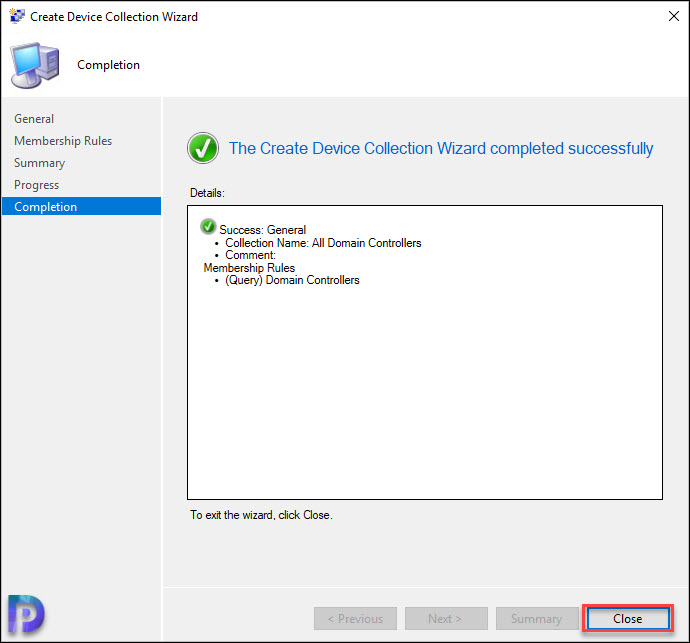SCCM Domain Controllers Collection Snap4