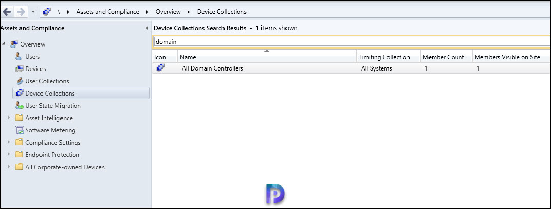 Domain Controllers device collection