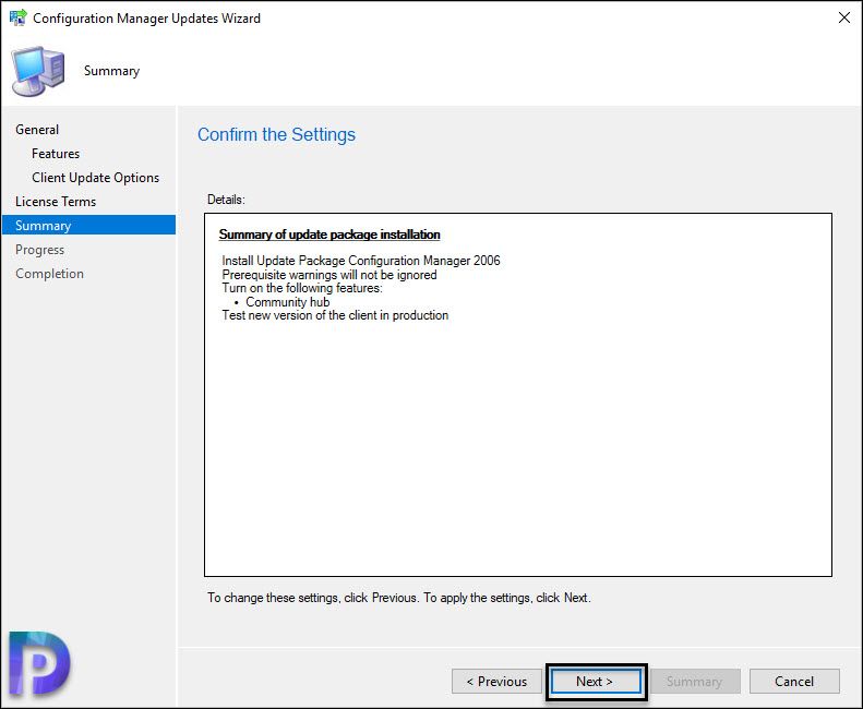 Configuration Manager 2006 update Summary