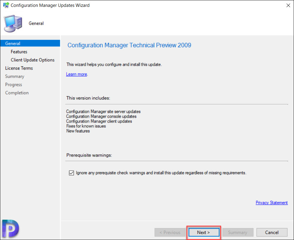 Install Configuration Manager Technical Preview 2009