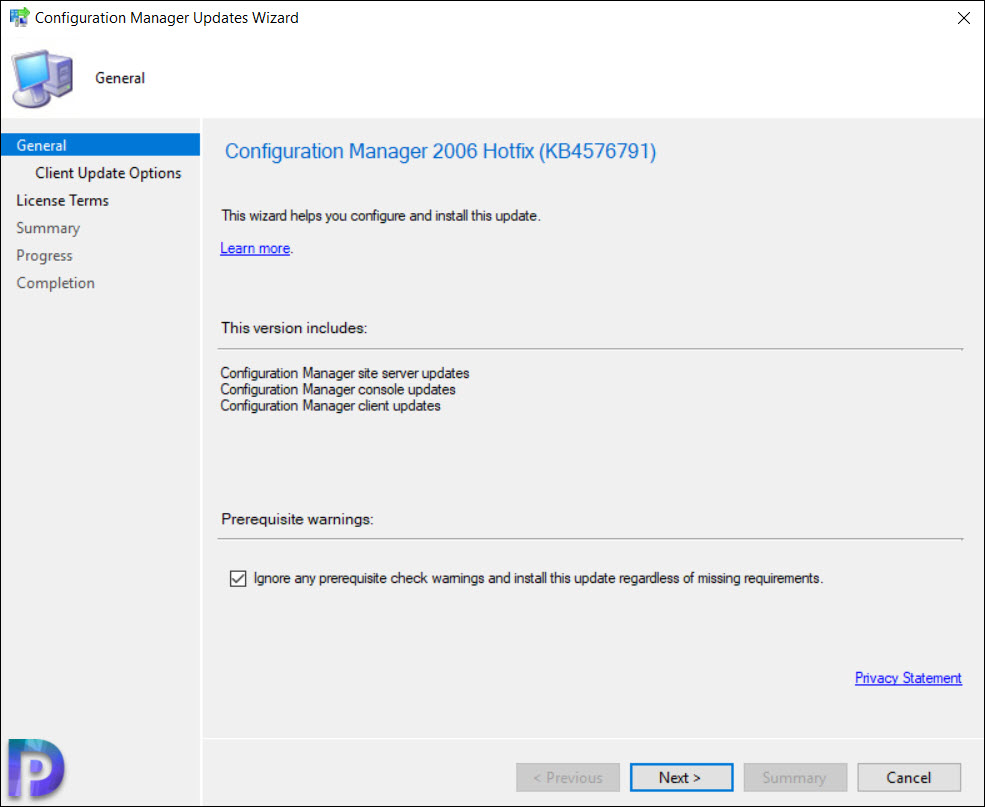Install Configuration Manager 2006 Hotfix KB4576791