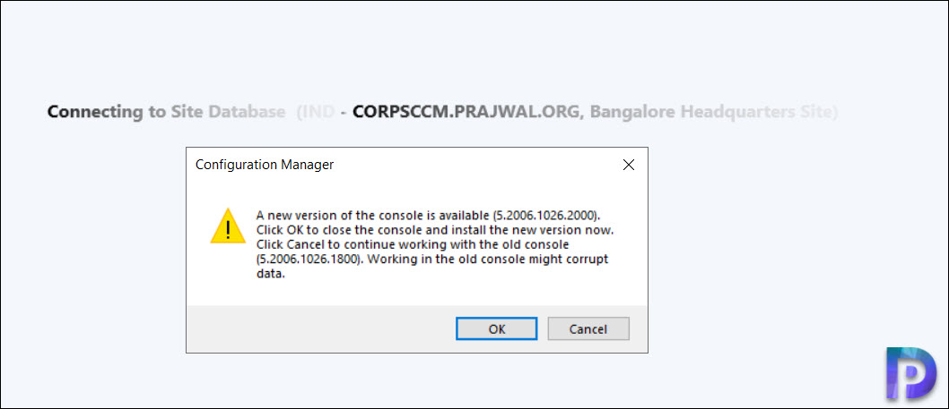Configuration Manager console upgrade