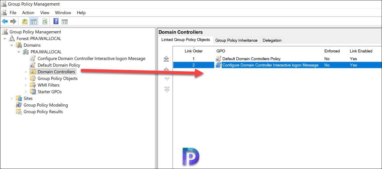 Configure Domain Controller Interactive logon Message