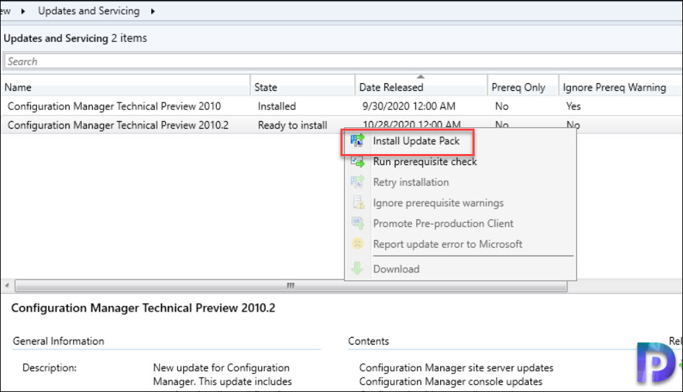Install Configuration Manager Technical Preview 2010.2