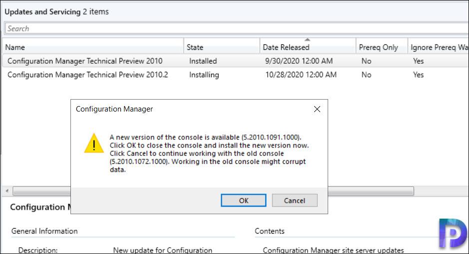ConfigMgr 2010.2 Console Upgrade