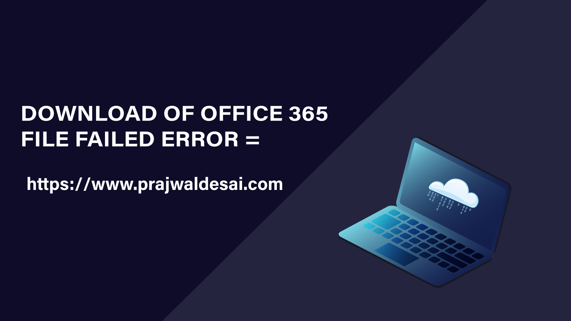 Download of Office 365 file failed Error
