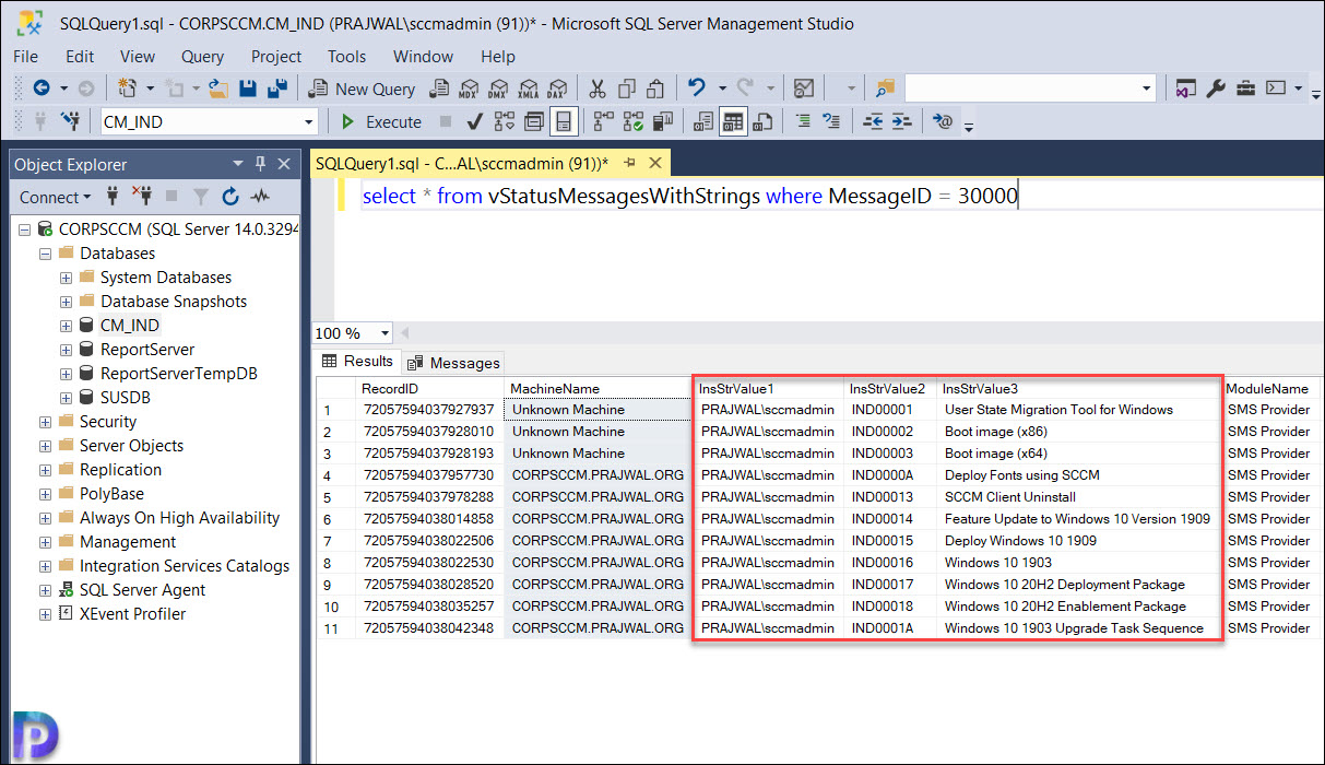 Track the user who Created the Package Properties of a Task Sequence