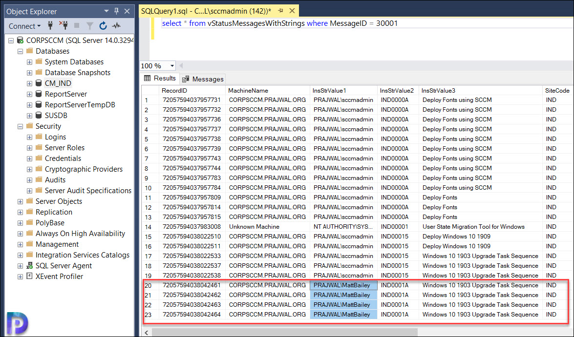 Find Who Modified ConfigMgr Task Sequence