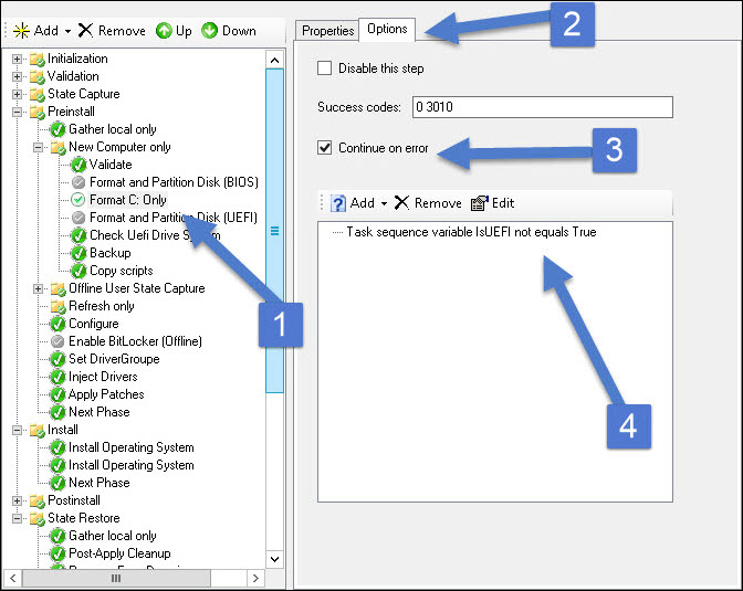 MDT Create Extra Partition and Deploy Task Sequence Snap14