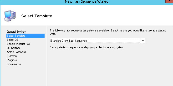Standard Client Task Sequence