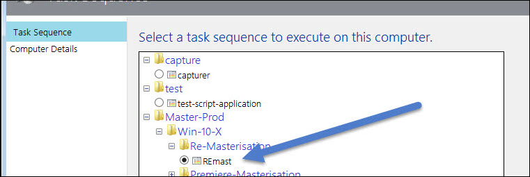 Select the tasks sequence to execute