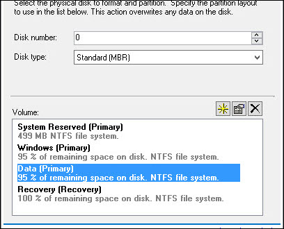 MDT Create Extra Partition and Deploy Task Sequence Snap6