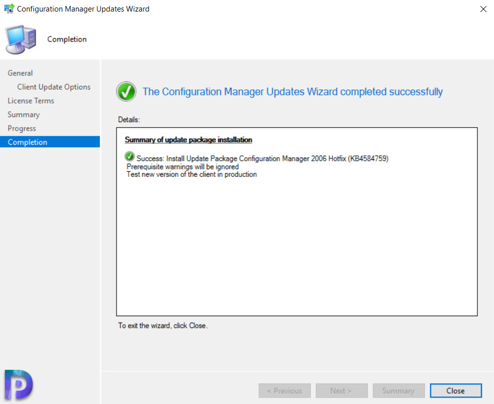 Configuration Manager 2006 Hotfix (KB4584759)