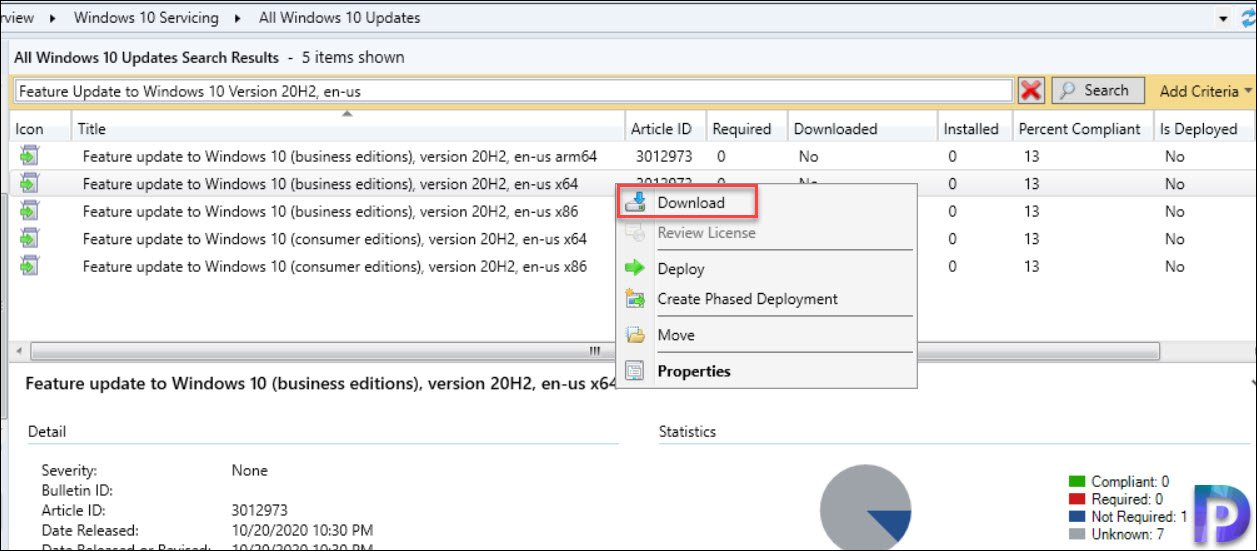 Download Feature update to Windows 10 version 2004