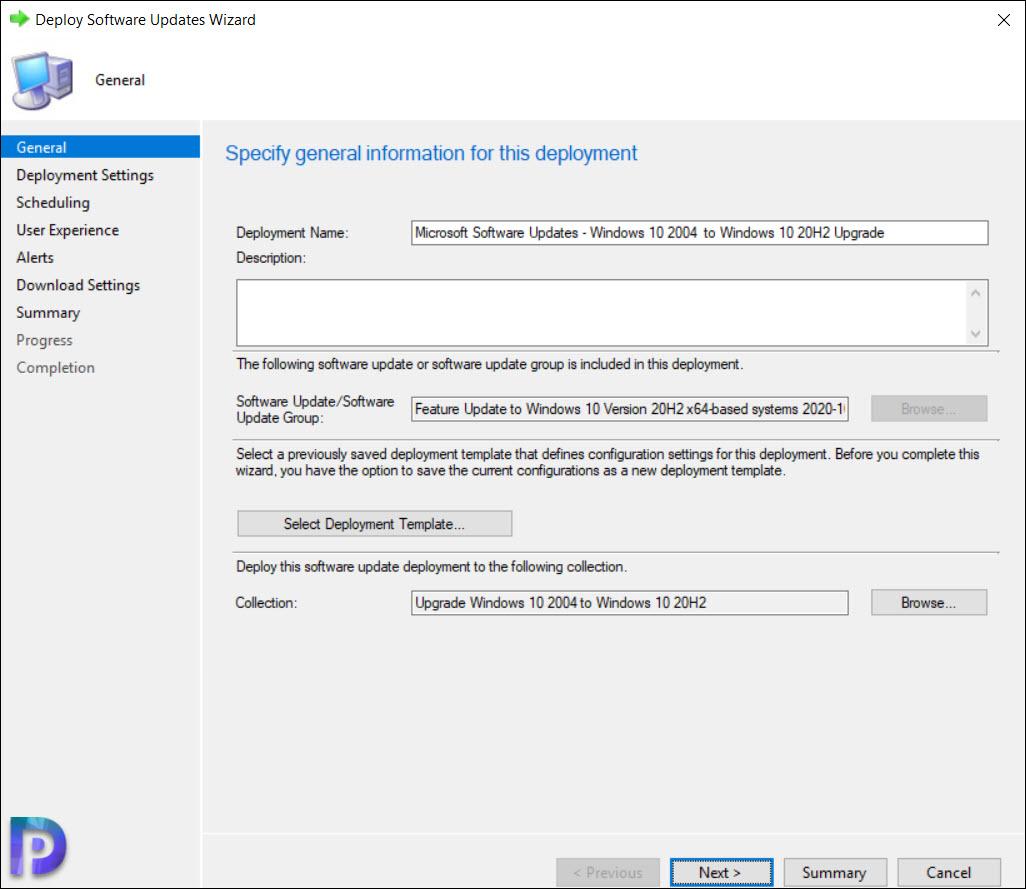 Upgrade to Windows 10 20H2 using ConfigMgr