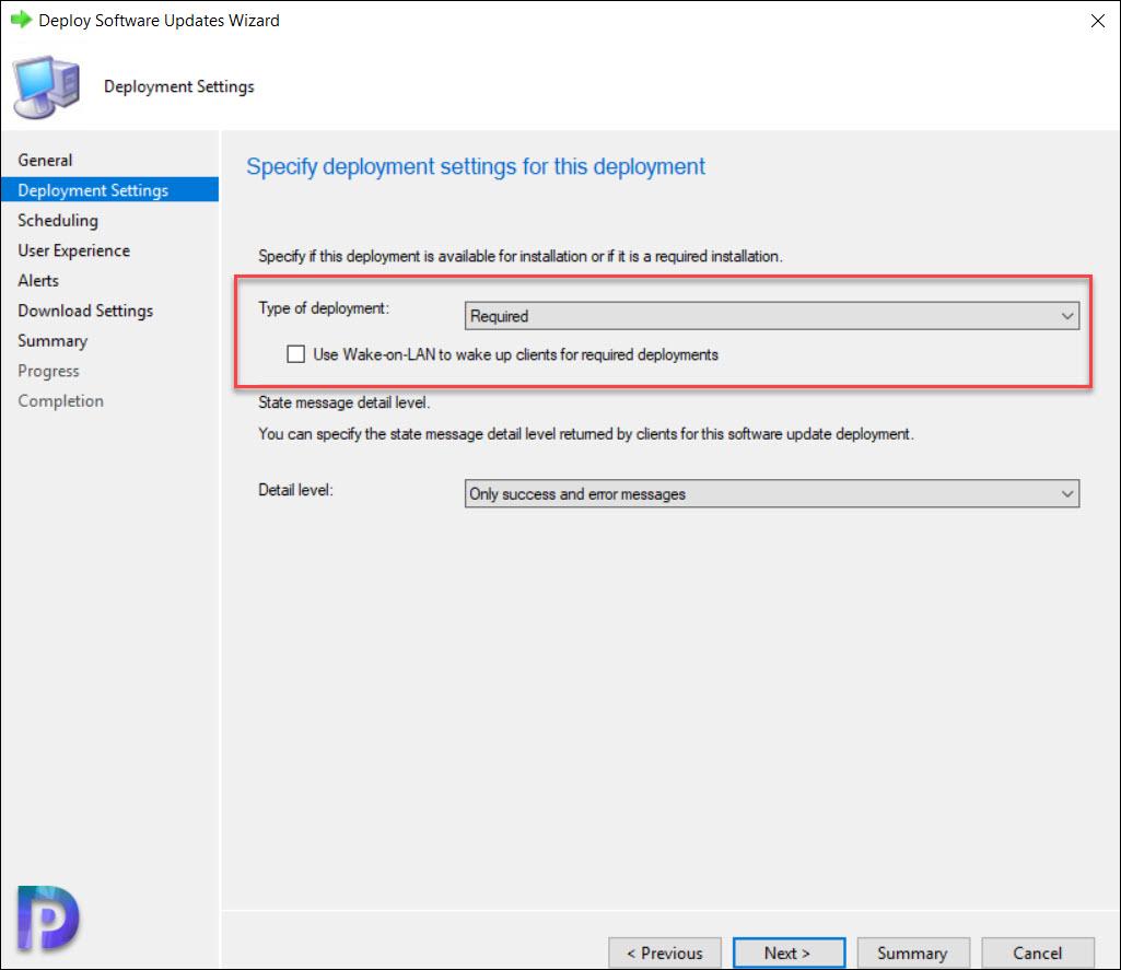 Windows 10 20H2 Deployment Settings