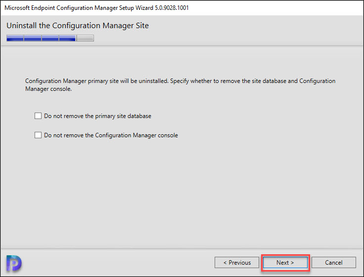 Remove Site Database and Console