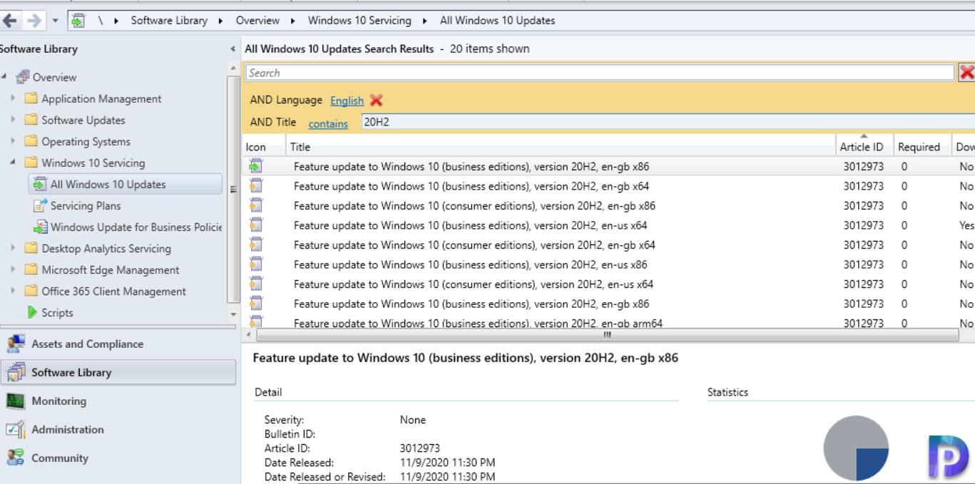 Software Updates - Windows 10 20H2