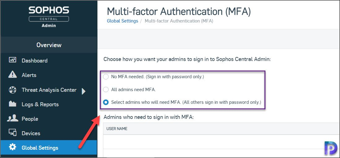 How to Enable Multi-factor Authentication in Sophos