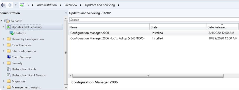 SCCM 2006 Hotfix Rollup KB4578605 Snap7