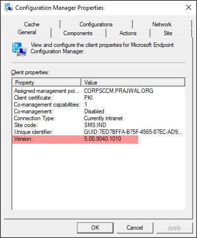 MEMCM 2010 Client Version Details