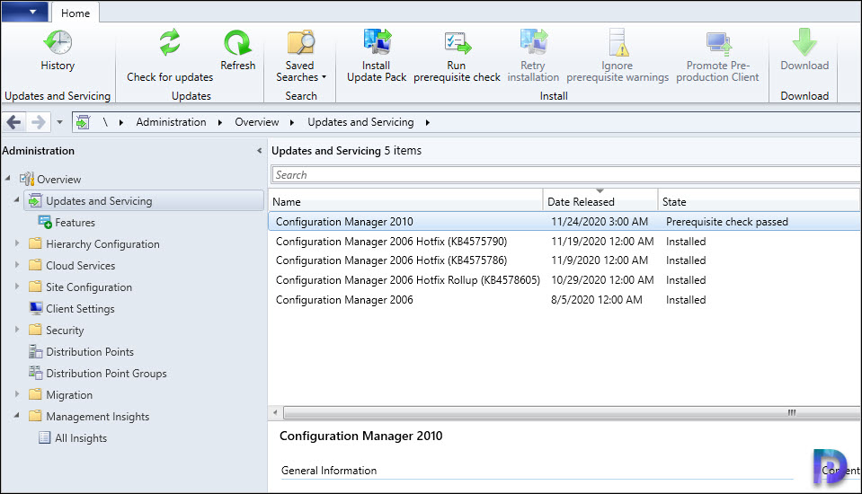 ConfigMgr 2010 Prerequisite Check Passed