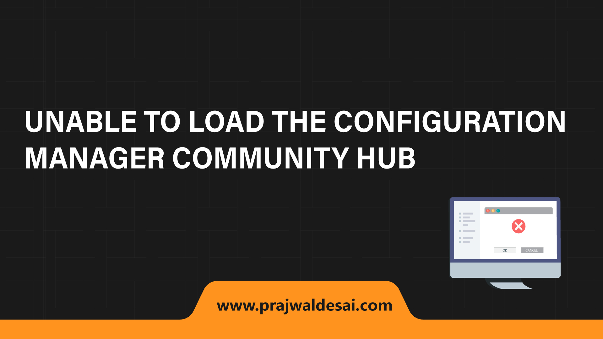 Unable to load the Configuration Manager Community hub