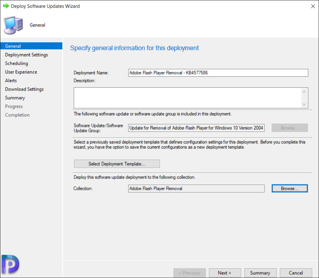 Deploy KB4577586 to Uninstall Adobe Flash Player using SCCM