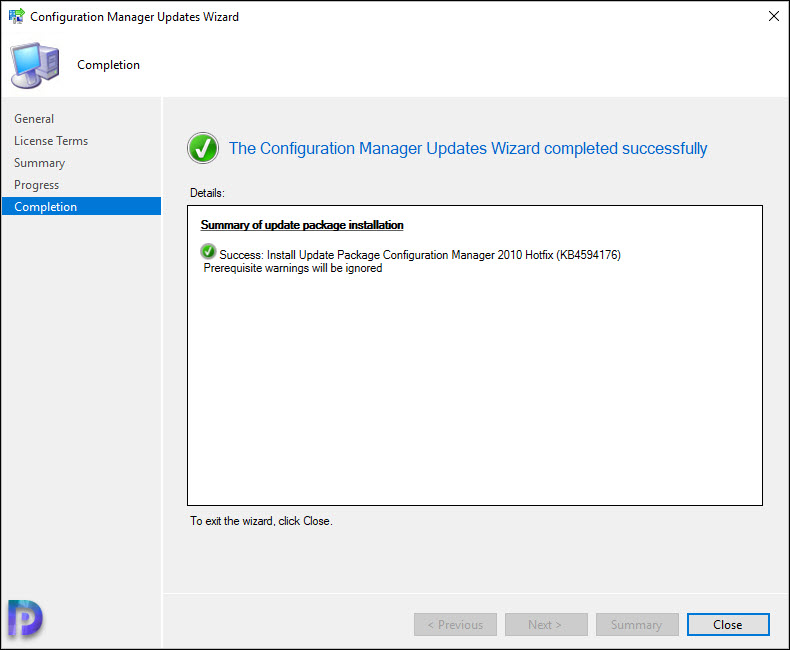 Install Configuration Manager 2010 Hotfix KB4594176