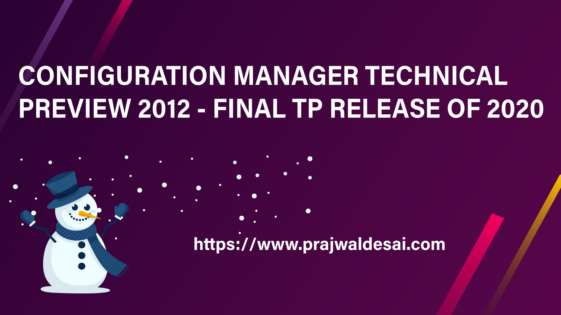 ConfigMgr Technical Preview 2012
