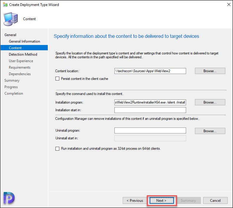 Microsoft Edge WebView2 Install Command