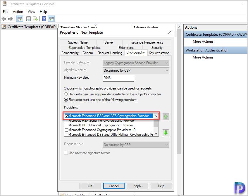 Microsoft Enhanced RSA and AES provider