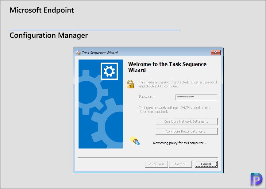 Enter the boot media password