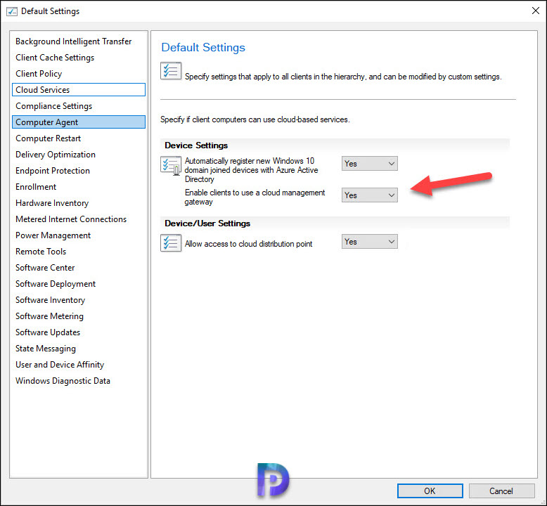 Enable clients to use a cloud management gateway