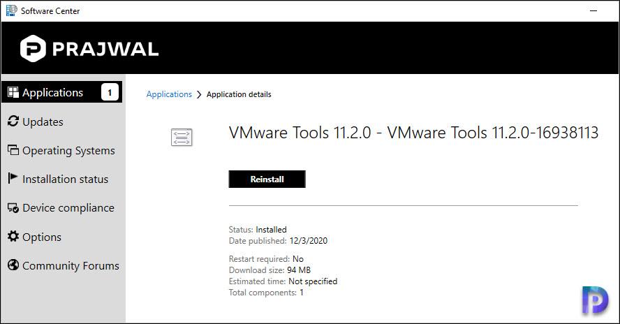 Deploy VMware Tools using SCCM