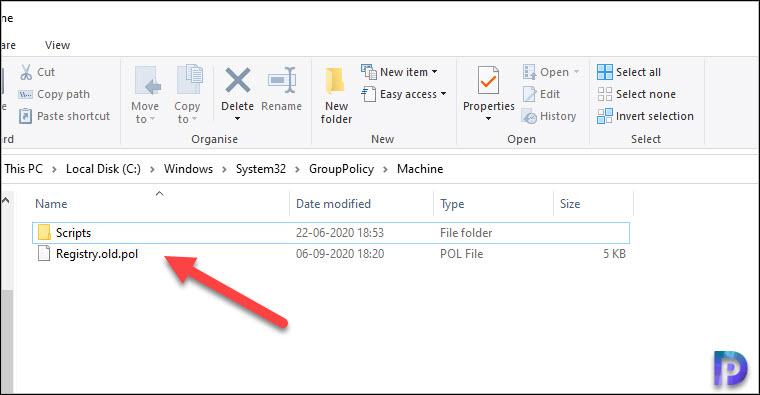 Rename Registry.pol file
