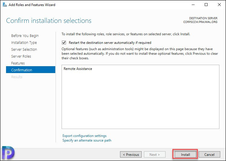 Enable Remote Assistance on Windows Server