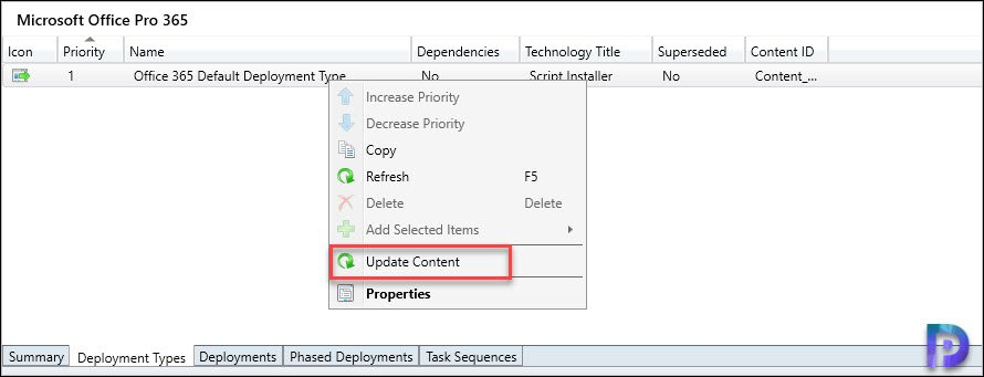 Update Office 365 Deployment