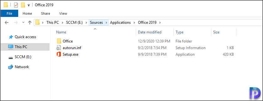 Office 2019 Installation Files