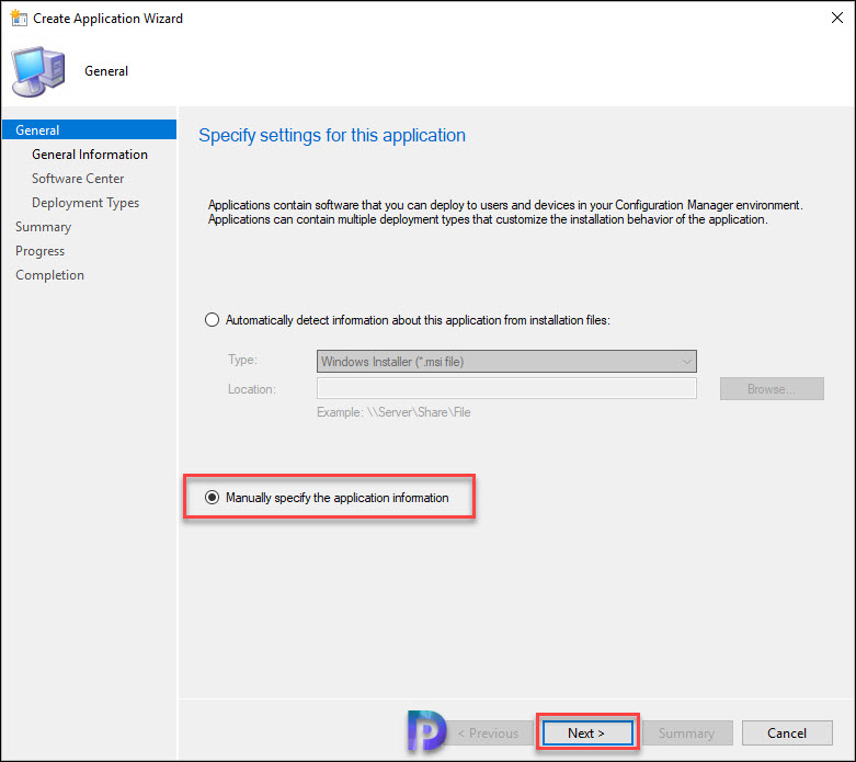 Create Office 2019 Application in Configuration Manager