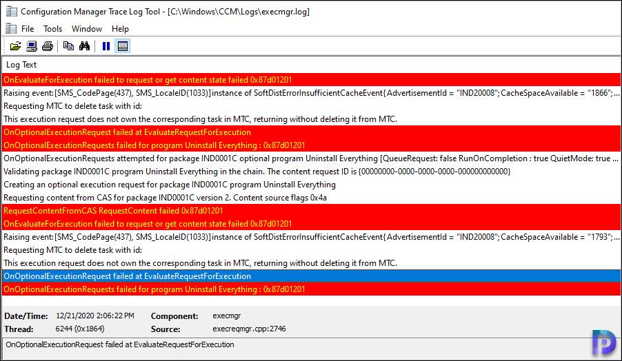RequestContentFromCAS RequestContent failed 0x87d01201